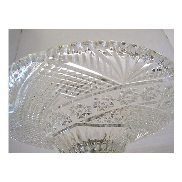 Crystal and gold centerpiece bowl chairish