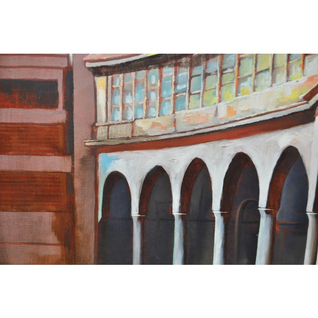 "Frank Ashley ""Facade at Santa Cruz"" Original Oil Painting - Image 5 of 11"