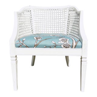 Vintage White Cane Back Chair