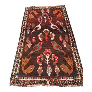 "Thick & Colorful Persian Gabbeh Rug - 3'9"" x 6'9"""