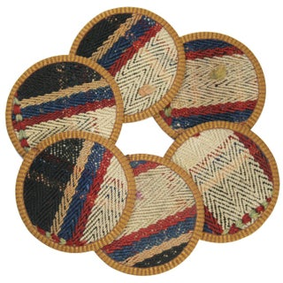 Yolgeçen Kilim Coasters - Set of 6