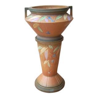 Roseville Futura Jardiniere & Pedestal- Set of 2