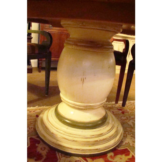 Woodland aberdeen pedestal table chairish for Table 6 in as 3725