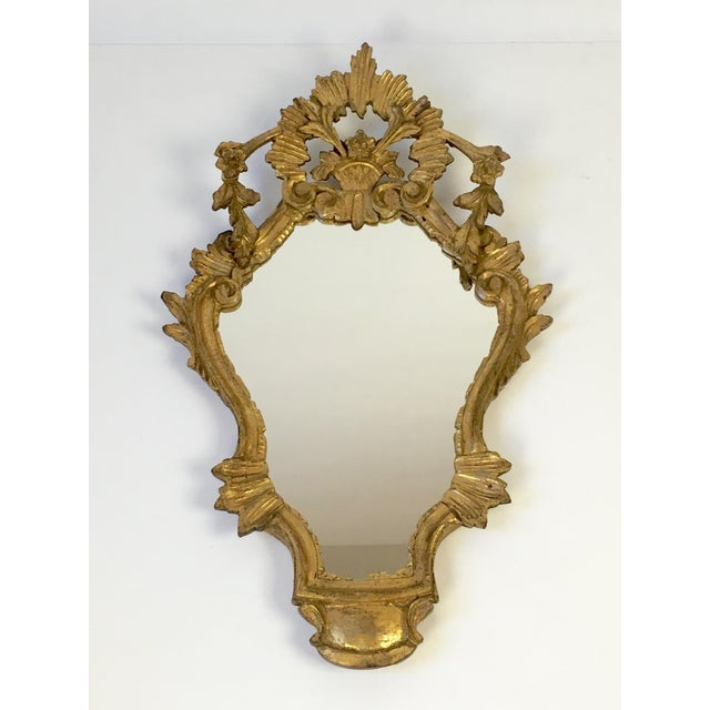 Image of Antique Italian Hand-Carved Gilt Wood Mirror