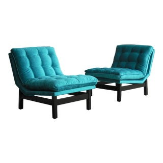 Interesting Pair of Mid-Century Lounge Chairs