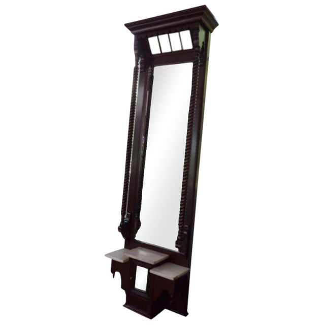 Foyer Mirror Height : Th century antique foyer mirror chairish