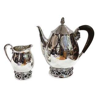 Sterling SIlver Teapot & Creamer