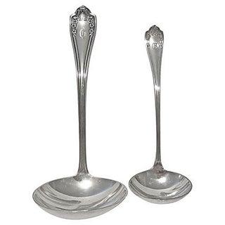 Monogrammed Silverplate Ladles - Pair