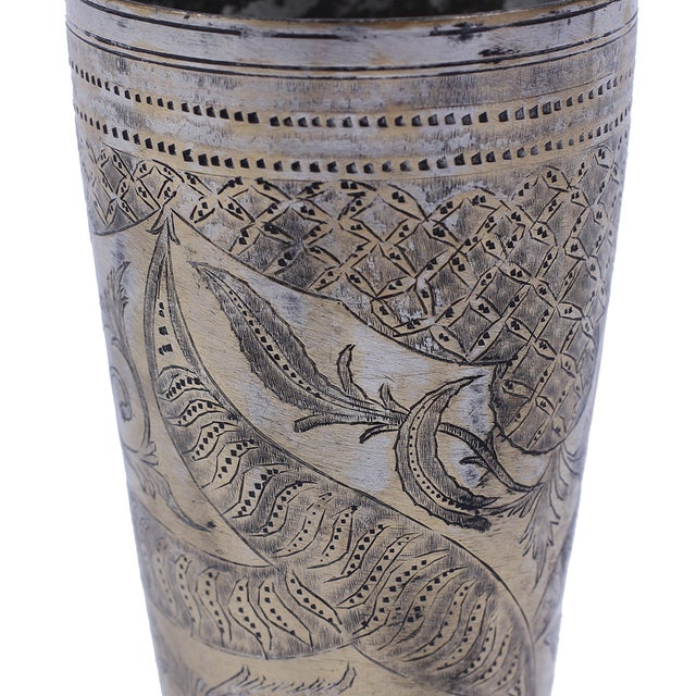 Vintage Brass Lassi Cup - Image 2 of 2