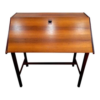 Danish Teak Secretary Desk