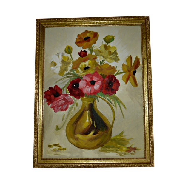 Original Floral Still Life Painting on Canvas - Image 1 of 7