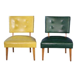 1950 Mid-Century Maple Lounge Chairs - A Pair