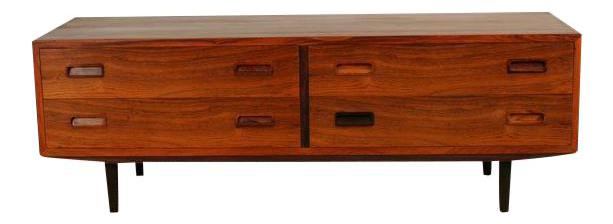 Vintage Danish Rosewood Lowboy Dresser