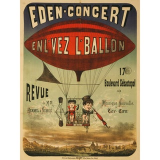 """""""In the Time of the Balloon"""" Print of French Circus Poster"""