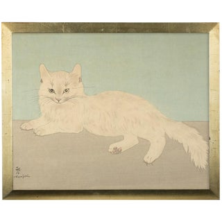 Leonard Tsuguharu Foujit Color Cat Woodblock