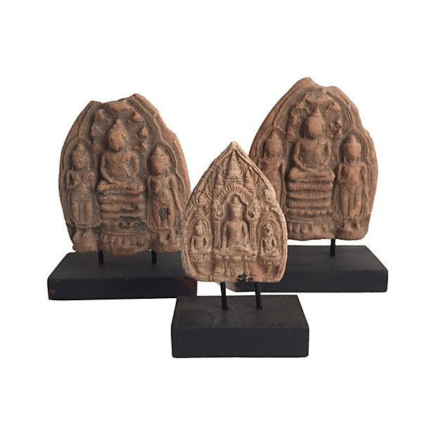 Image of Burmese Buddha Amulets - Set of 3