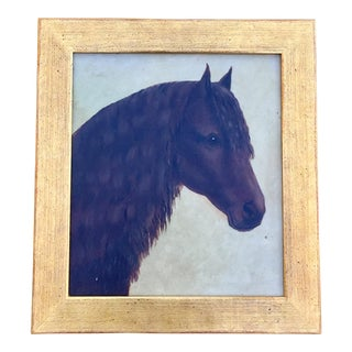 19th C. Oil Painting Portrait of a Horse