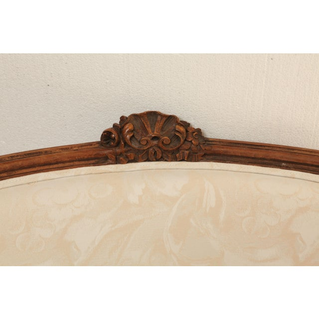 Image of 19th Century French Settee in Carved Hardwood