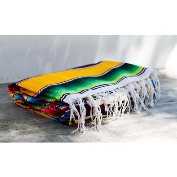 "Southwestern Striped Blanket Rug - 4'11"" X 7' - Image 2 of 5"