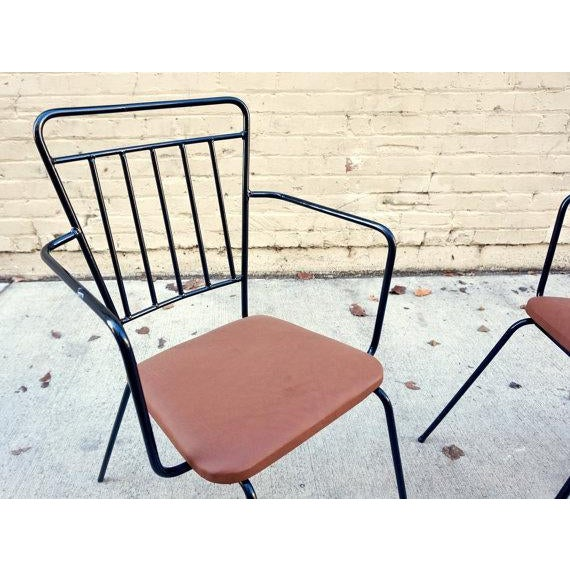 Vintage Iron Modernist Chairs - A Pair - Image 6 of 6