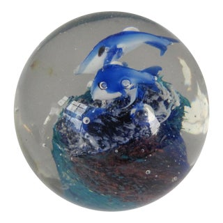 Blown Glass Fish Paperweight