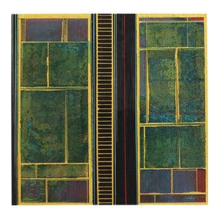 "Alexander Eulert ""Fields No. 8"" Mixed Media Painting"