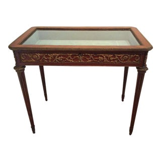 French Ormolu Mounted Vitrine Table