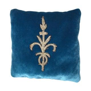 Silk Velvet Lavender Sachet With Applique