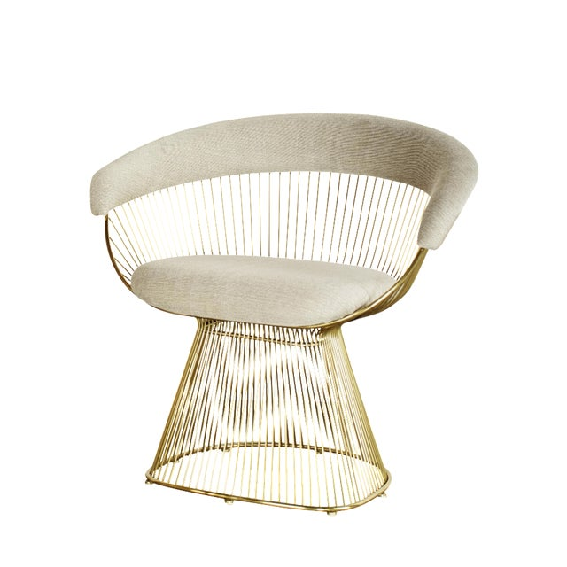 Warren Platner Inspired Gold Accent/Dining Chair - Image 1 of 3