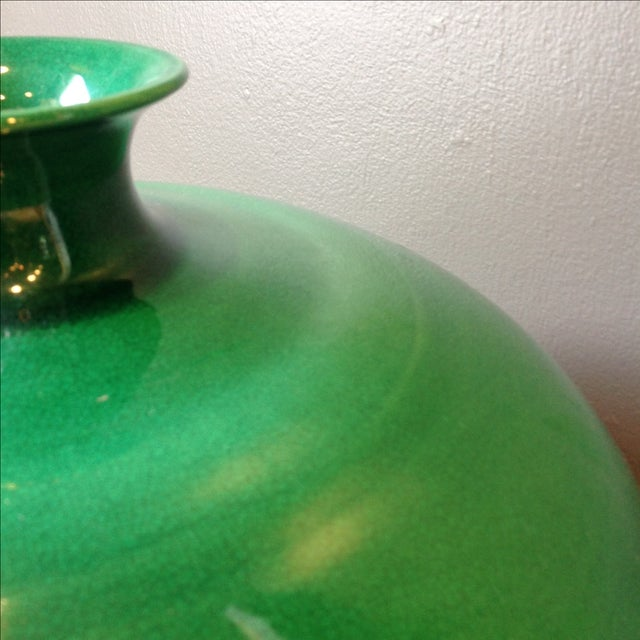 Emerald Green Asian Ceramic Vases - Set of 3 - Image 4 of 7