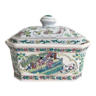 Vintage Famille Verte Lidded Rectangle Box