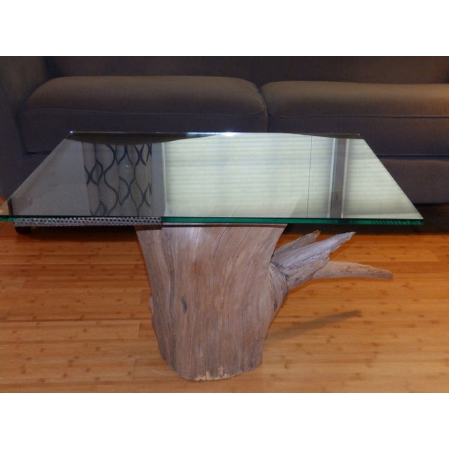 Verina Baxter Cedar Wood and Glass Coffee Table - Image 2 of 7