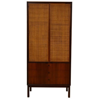 Knoll Walnut Tall Armoire Dresser