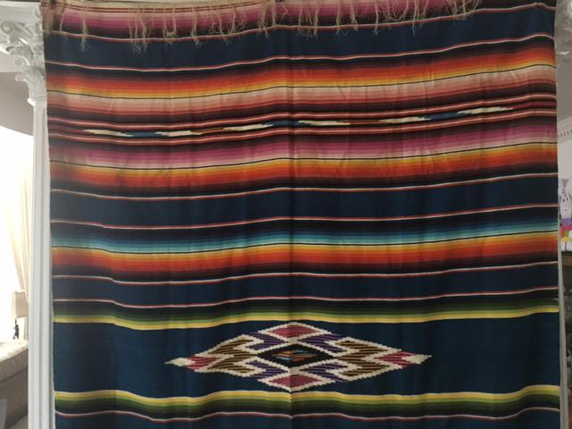 Just cum vintage mexican blanket