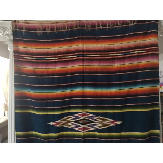 Vintage Mexican Blanket Delightxx Nice Catch-2144