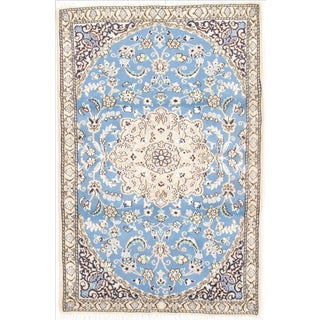 "Persian Nain Silk & Wool Rug - 3'1"" x 4'8"""