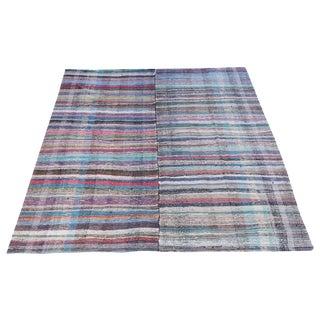 Vintage Turkish Multi-Color Handmade Flatweave Rug - 8′2″ × 10′7″