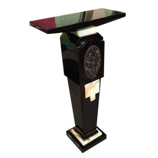 Art Deco Chiparus Style Cast Bronze and Marble Pedestal