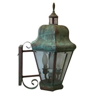 Vintage Elegant Brass Wall Hanging Lantern