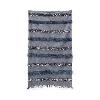 Moroccan Gray Organic Wool Wedding Blanket