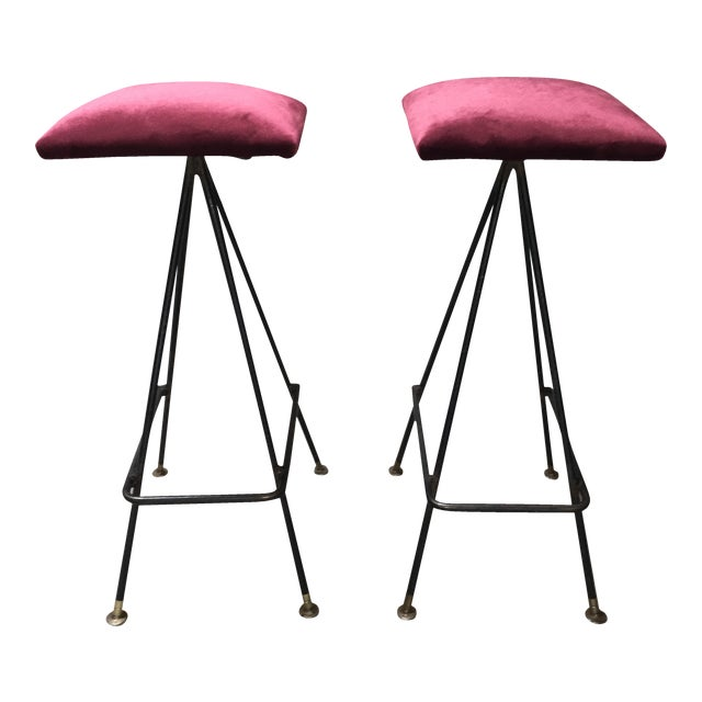 Adrian Pearsall Handmade #11 Bar Stools- A Pair - Image 1 of 3