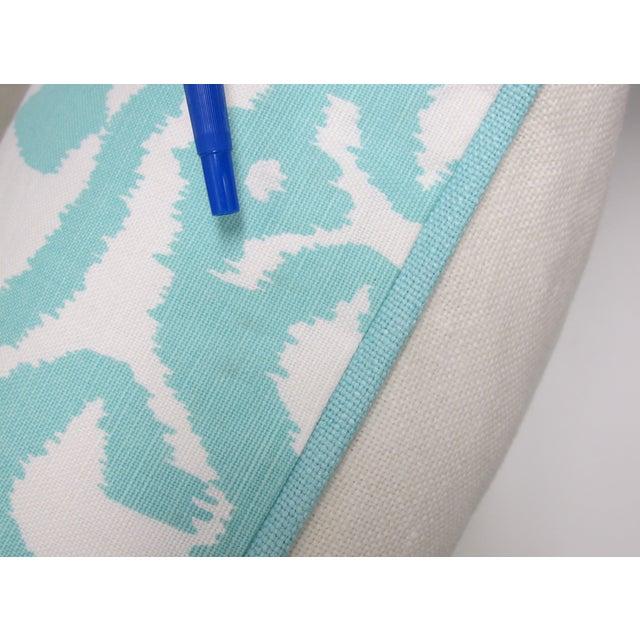 Aqua Bali Isle Linen Pillows- a Pair - Image 5 of 7