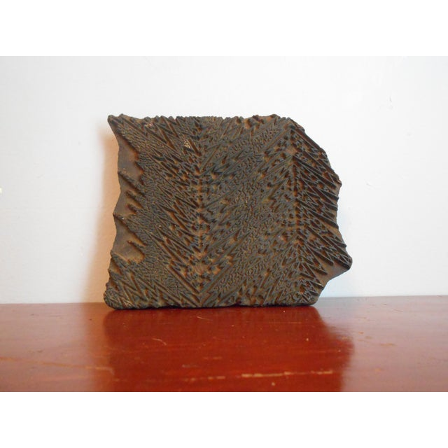 Antique Wood Print Block I - Image 3 of 5