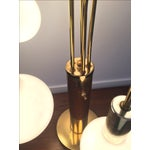Image of Mid-Century Brass Waterfall Table Lamps - A Pair