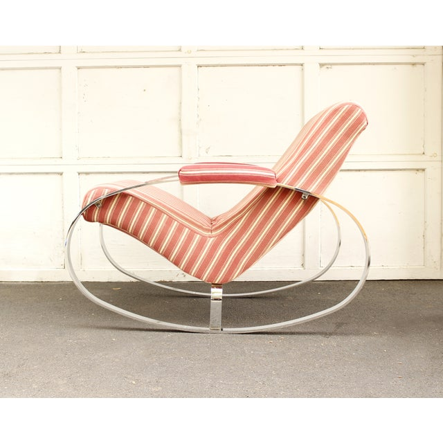 Guido Faleschini Mid-Century Chrome Rocking Chair - Image 6 of 9