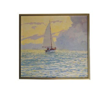 """""""Solo Sailing on the Bay"""", by Alan H. Curtis"""