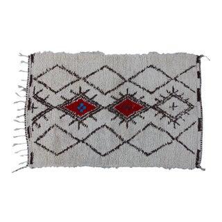 Vintage Beni Ourain Moroccan Rug - 5'5'' x 3'3''