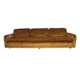 1960s Bronze Chenille Custom Sofa