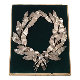 Unusual Neoclassical Silver Plated Laurel Wreath