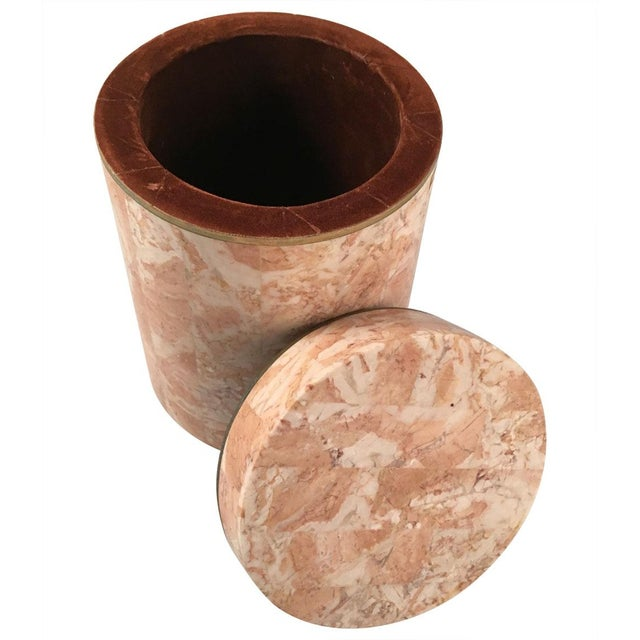 Image of Vintage 1970s Maitland-Smith Stone Canister